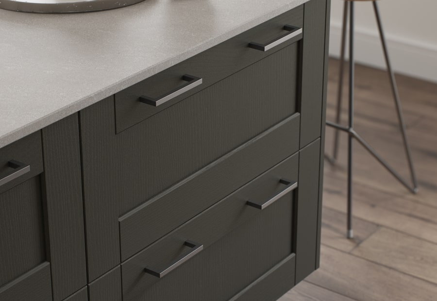 Classic & Contemporary Kensington Kitchen in Painted Graphite Worktop