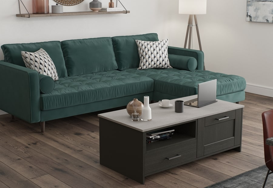 Classic & Contemporary Kensington Kitchen in Painted Graphite Coffee Table