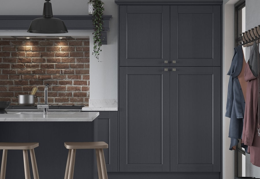 Country Kensington Indigo Kitchen Tall Cabinets