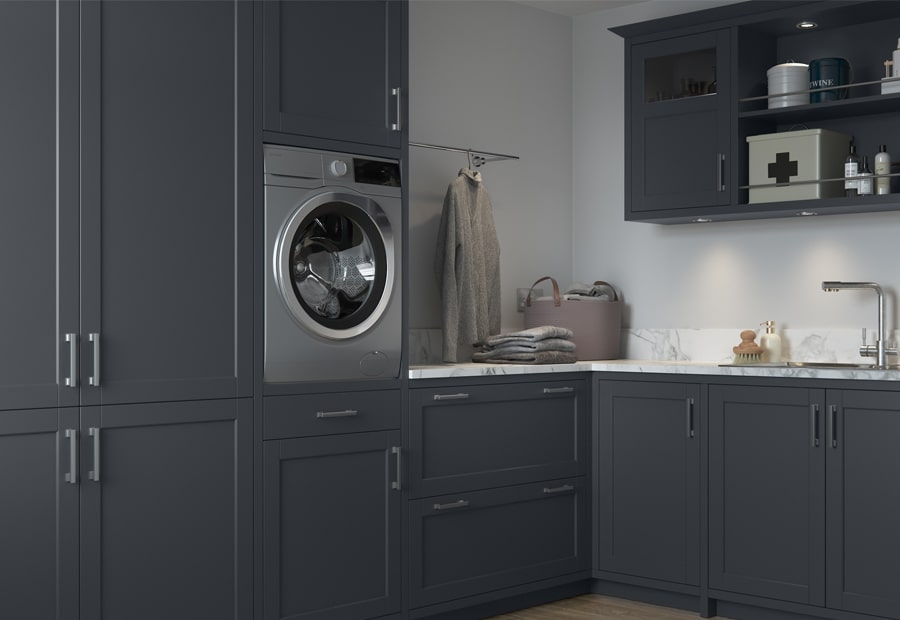 Classic Traditional Modern Dawson Indigo Kitchen Utility Room