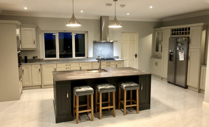 Flannery Wakefield Stone & Belgravia Lava Kitchen for Mr & Mrs Cuddy of Roscommon