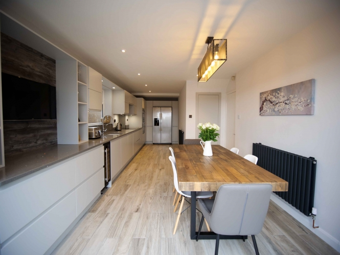 The Gallery Strada Matte Light Grey Kitchen for Kate Jones of Dudley