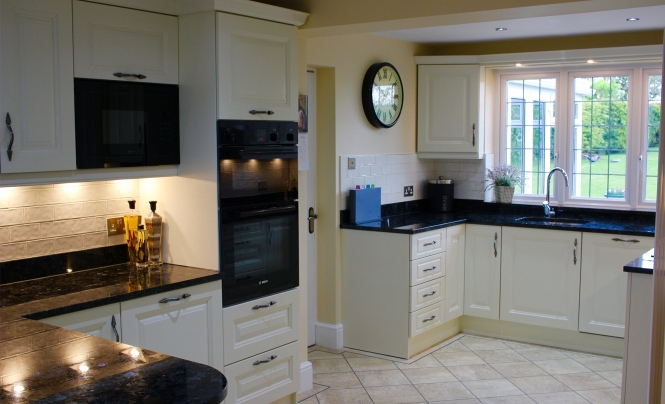 Huntersbrook Jefferson Ivory Kitchen for Mr & Mrs Self-Pierson of Harlow