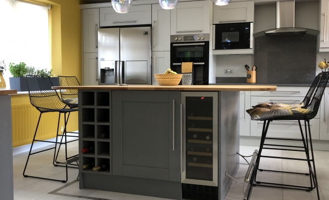 Huntersbook Madison Light Grey & Dust Grey Kitchen for Mr & Mrs Winders of Old Harlow