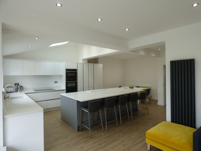 Kitchen Flair Zola Matte White & Dust Grey Kitchen for Alison in Atherton