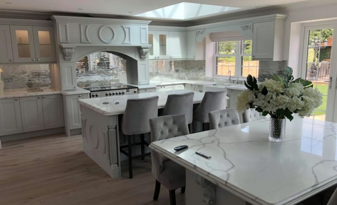 KNB Creations Florence Light Grey Kitchen fro Mr & Mrs Smith of Doncaster