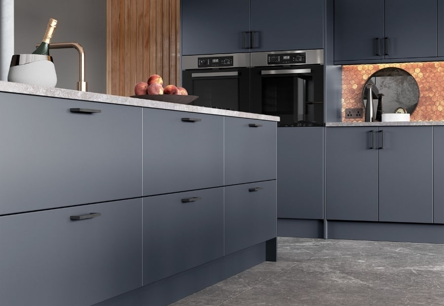 Kitchen Stori Zola Matte Slate Blue Plinth