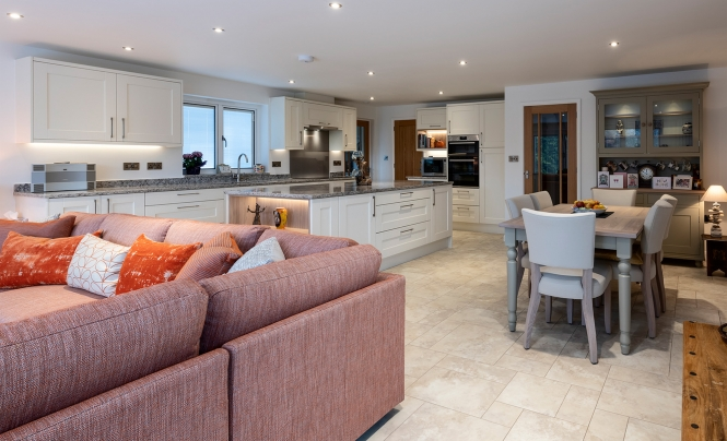 Kensington Painted Ivory Kitchen by Portishead Kitchens for a home in North Somerset