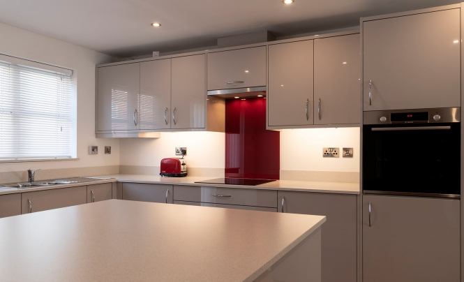 Portishead Kitchens Zola Gloss Cashmere for a home in Portishead, North Somerset Hero