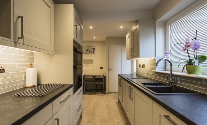 Portishead Kensington Mussel Kitchen for Mr & Mrs Wothington of Nailsea