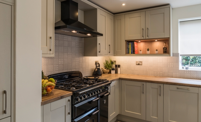 Portishead Kensington Mussel Kitchen for Mr & Mrs Marshall for home in North Somerset