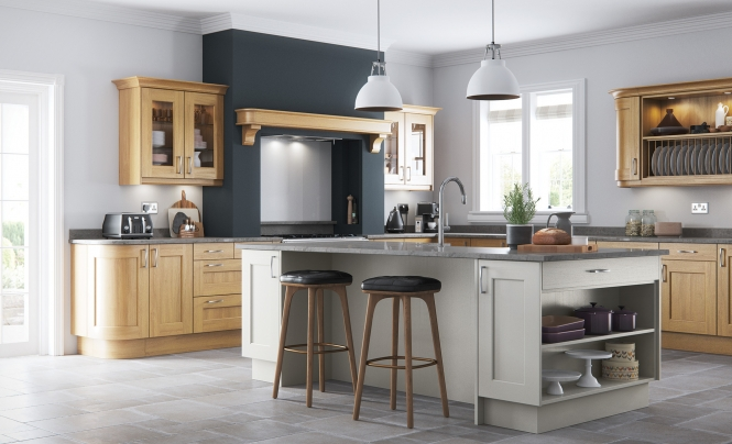 Wakefield contemporary light grey kitchen stori for Light grey modern kitchen