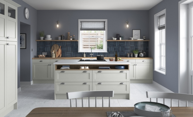 Classic Modern Dawson Light Grey Kitchen