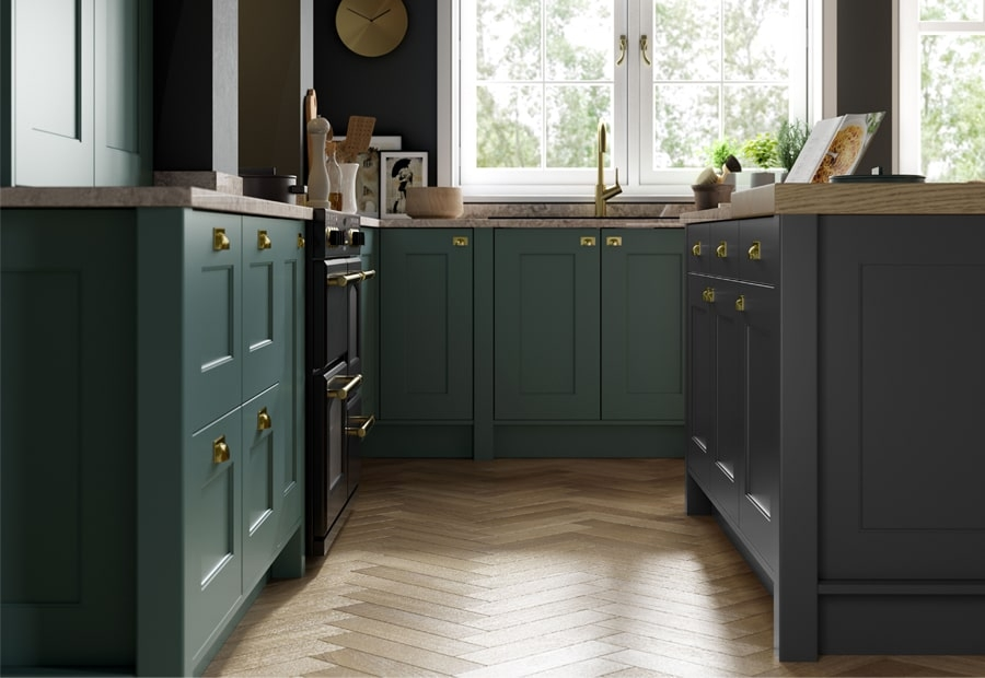 Florence Painted Graphite & Viridian Flooring
