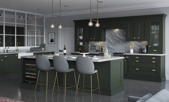 Traditional Classic Belgravia Kitchen in Deep Forest