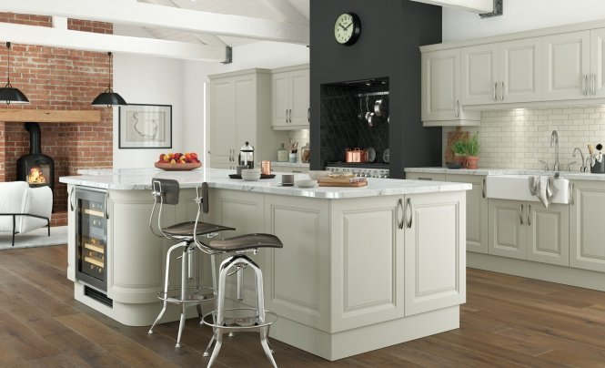 Traditional Classic Jefferson Painted Kitchen in Mussel
