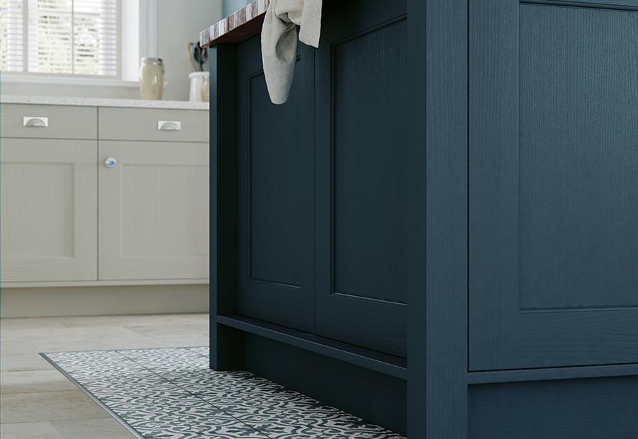 Wakefield Painted Parisian Blue Kitchen Island Unit