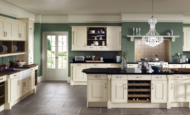 Classic traditional Windsor Classic Kitchen In Painted Ivory