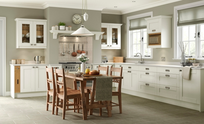 Kensington Ivory Shaker Style Kitchen