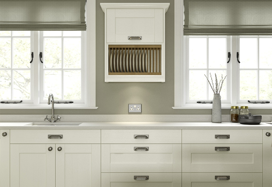 Kensington Ivory Kitchen Featuring Plate Racks