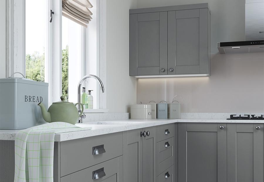 Shaker kitchen doors kensington classic uform kensington light grey dust grey shaker kitchen units workwithnaturefo