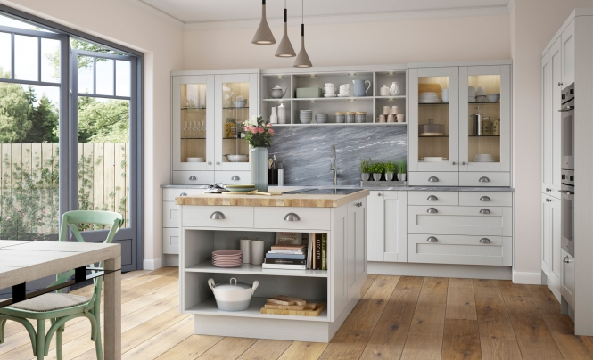 Kensington Shaker Style Kitchen in Light Grey