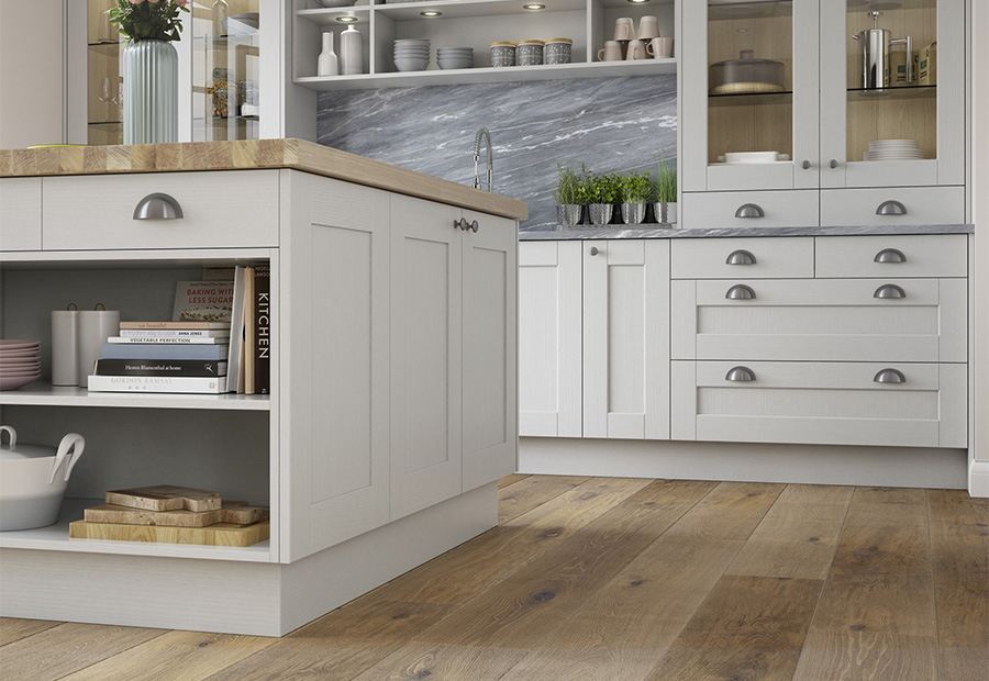 Kensington Light Grey Island Unit