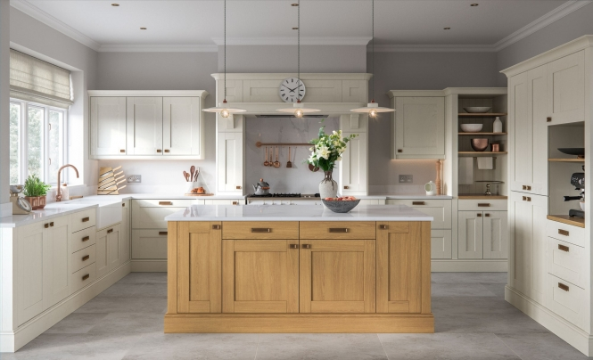 Classic Traditional Madison Kitchen Light Oak & Ivory