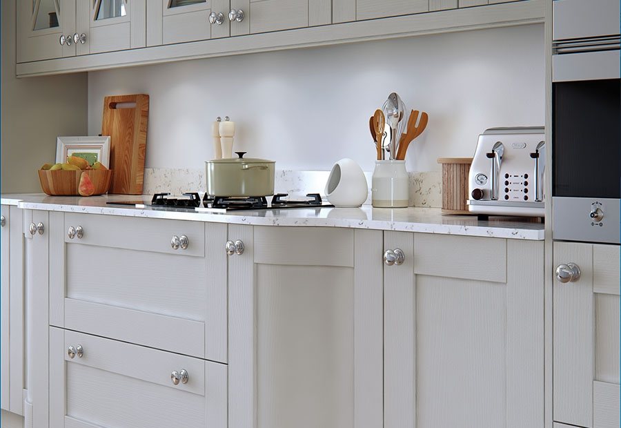 Shaker Kitchen Doors Madison Painted Light Grey Uform - Light grey kitchen doors