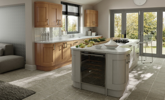 Windsor Shaker Kitchen in Oak & Painted Stone
