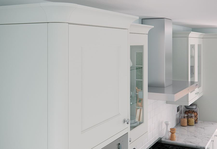 Contemporary Modern Florence Painted Kitchen cabinets in painted porcelain