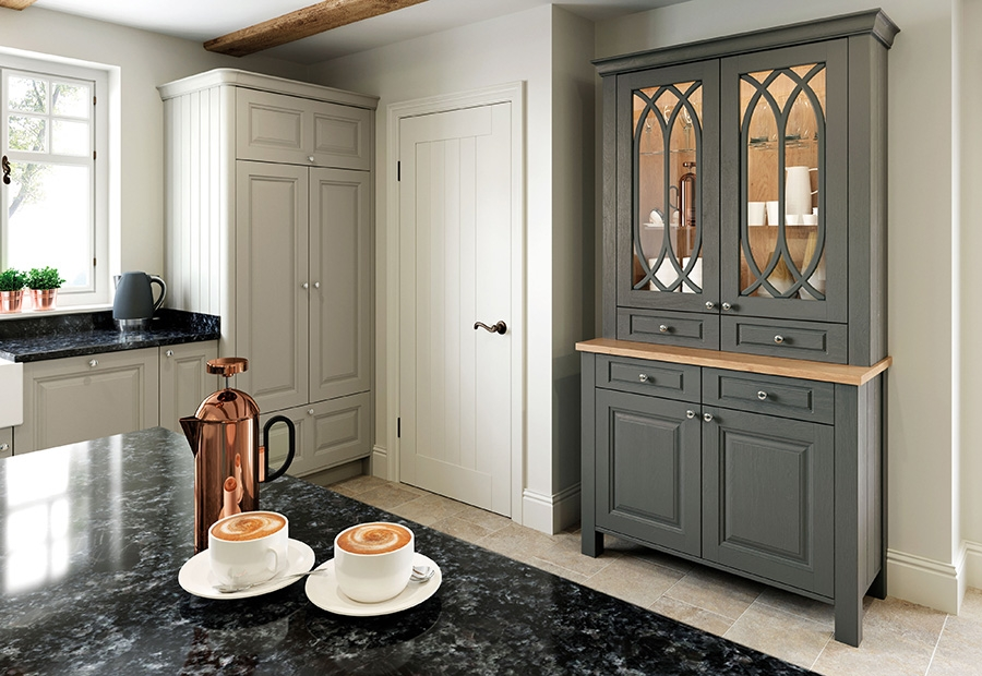 Jefferson Kitchen Featuring Dresser Unit in Gun Metal Grey