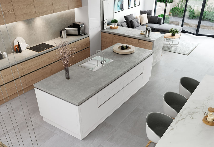 Zola Gloss Handleless Island Unit