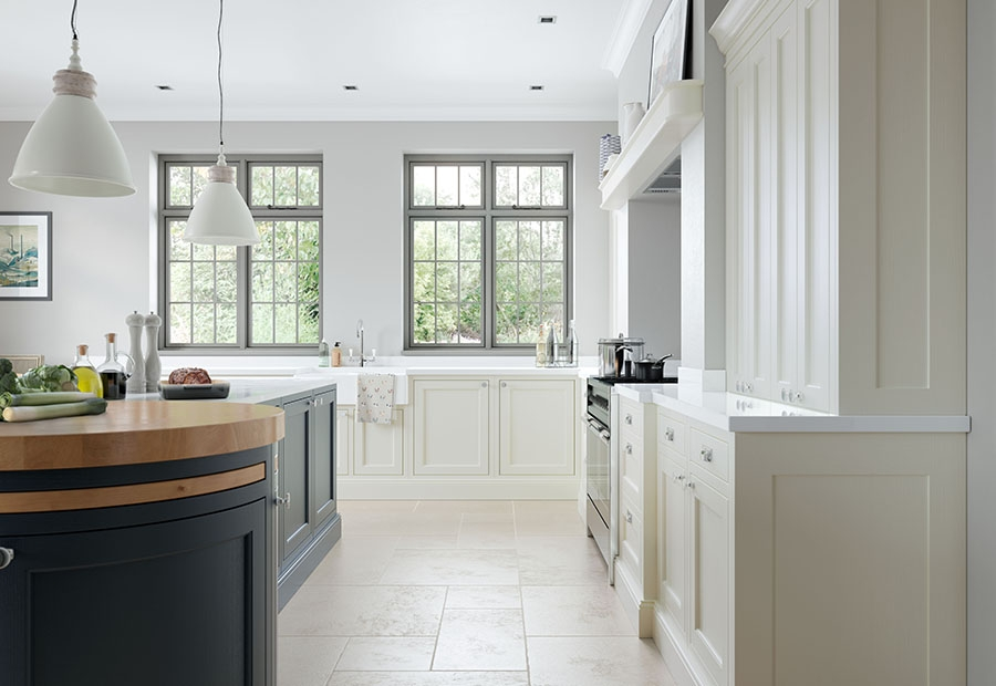 Belgravia Inframe Kitchen Featuring Curved Doors