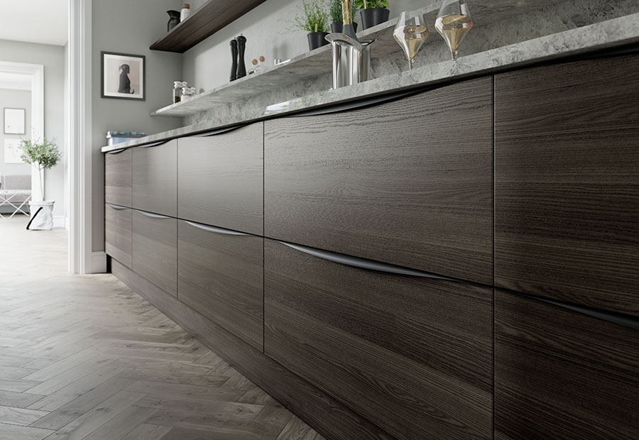 Tavola Carbon Oak Stained Kitchen Drawers