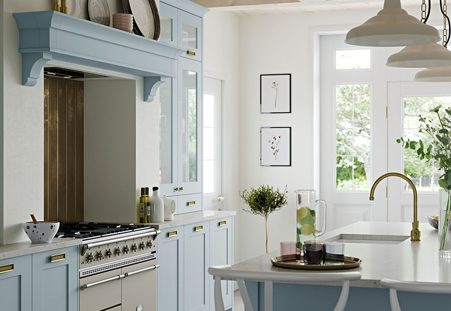 Georgia Classic Kitchen Featuring Overmantle Detail