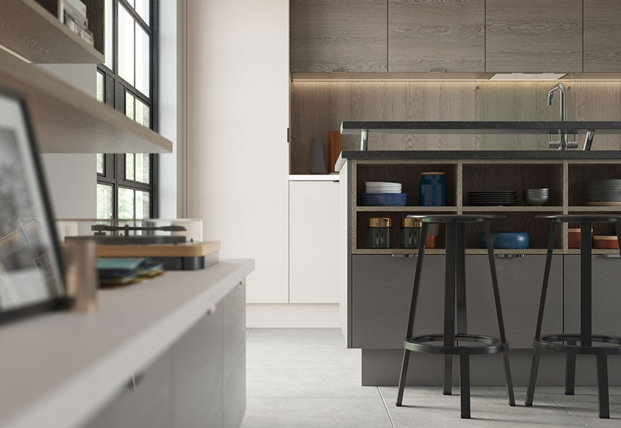 Tavola Contemporary Kitchen Island Unit