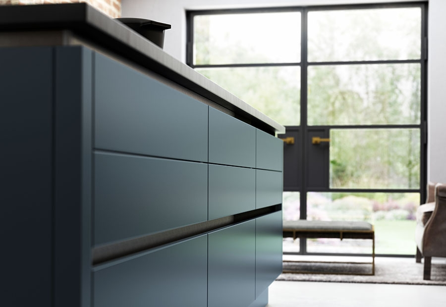 Handleless Zola Matte Pan Drawers