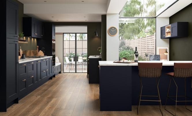 Modern & Contemporary Florence Slate Blue Kitchen