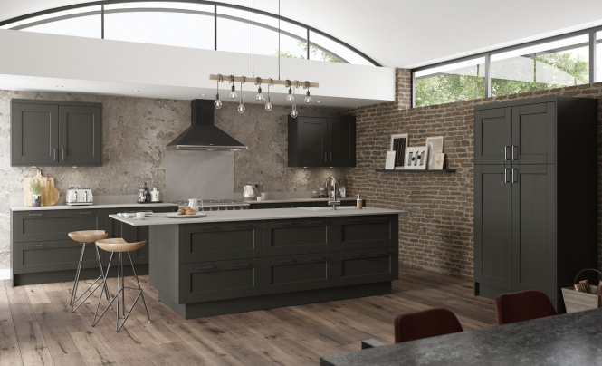 Classic & Contemporary Kensington Kitchen in Painted Graphite