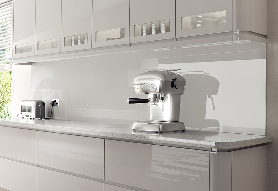 Strada Gloss Modern White Kitchen Stori