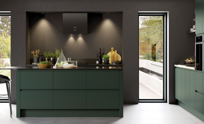 Modern Contemporary Strada Matte Kitchen in Deep Forest