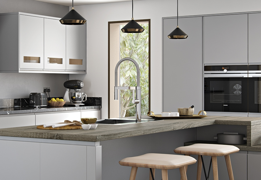 Modern Contemporary Strada Matte Feature Wall Frames in Painted Light Grey