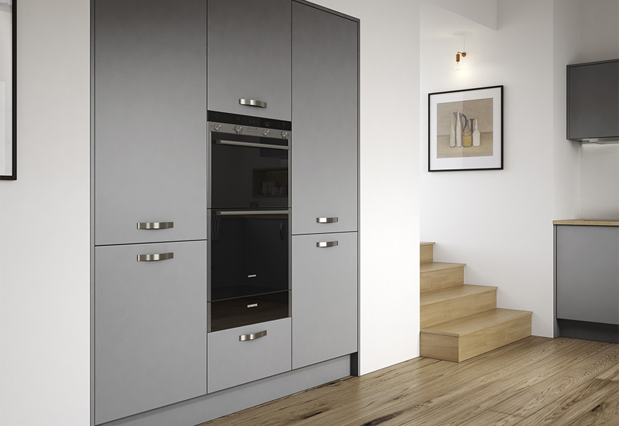 Zola Matte Dust Grey Tall Housing Units & Integrated Appliances
