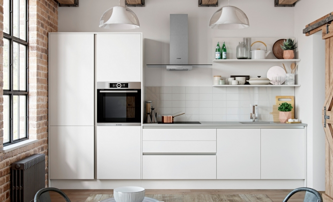 Zola Matte Handleless Kitchen in White