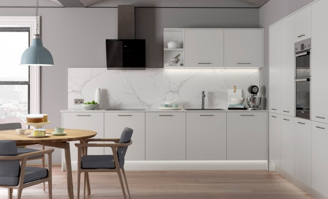 Kitchen Stori Zola Matte Kitchen in Light Grey