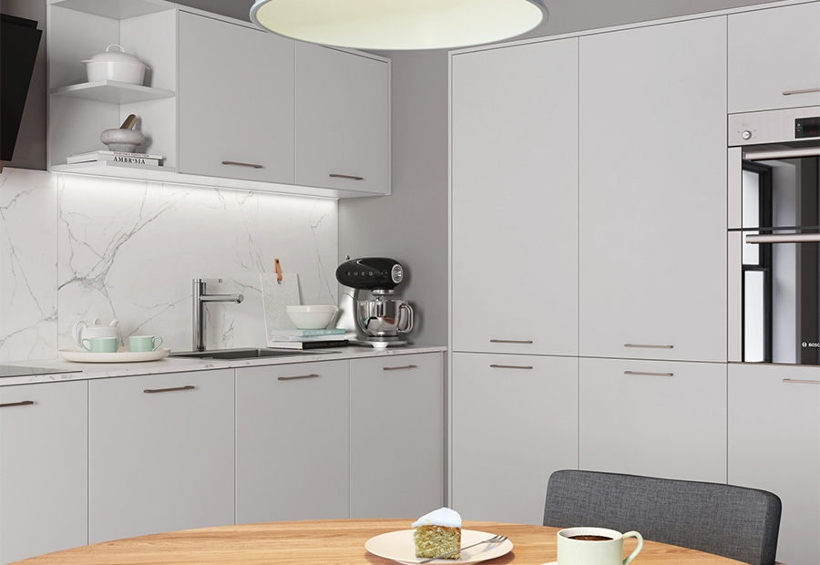 Zola Matte Light Grey Tall Units