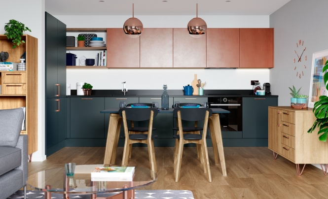 Zola Matte Marine, Ferro Painted Copper U0026 Rezana Stained Light Oak NEW  COLOUR
