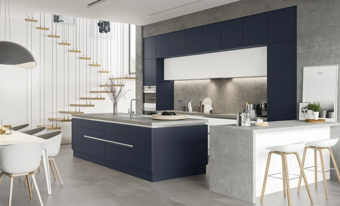 Kitchen Stori Zola Soft Matte Indigo Kitchen Hero