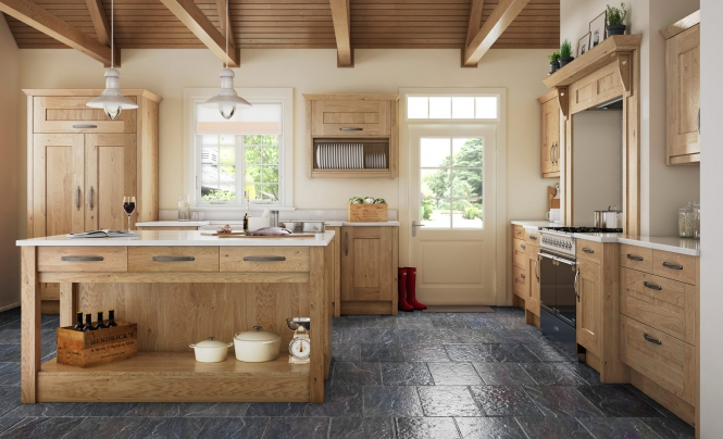 Traditional Country Clonmel Knotty Oak Kitchen